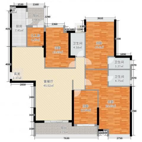 海伦湾4室2厅3卫1厨182.00㎡户型图