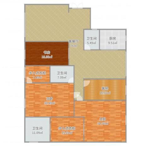 德远未来之城3室2厅3卫1厨290.00㎡户型图