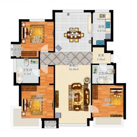 泰禾·拾景园3室2厅2卫1厨135.00㎡户型图