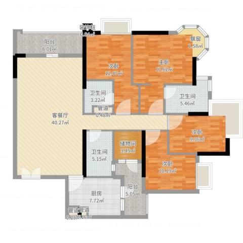 高雅湾4室2厅3卫1厨159.00㎡户型图