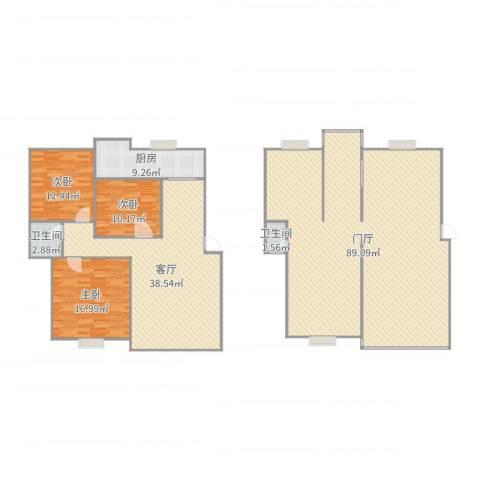 松江世纪新城3室1厅2卫1厨226.00㎡户型图