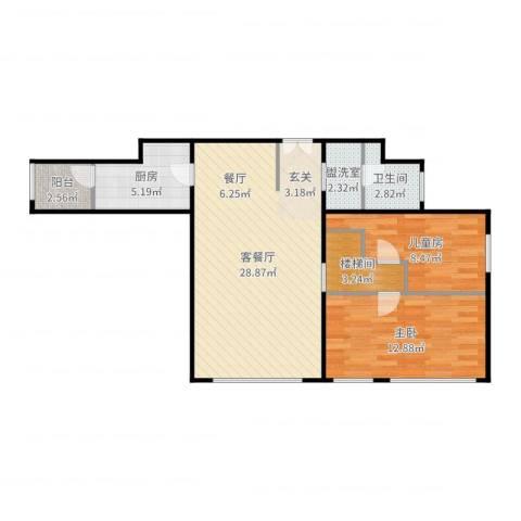 高教新城·学区嘉园2室4厅1卫1厨83.00㎡户型图
