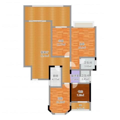 城置金色年华4室2厅2卫1厨152.00㎡户型图