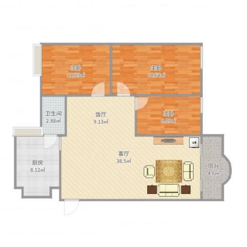 瀚高花园-12栋5033室1厅1卫1厨110.00㎡户型图