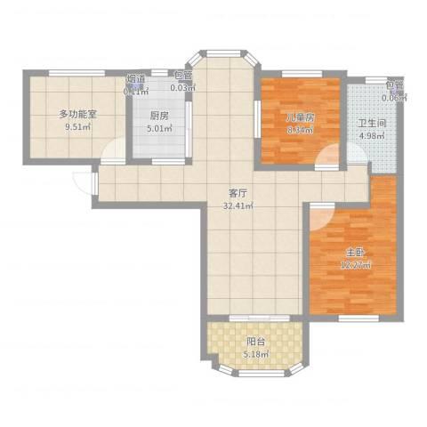 紫金天境2室1厅1卫1厨97.00㎡户型图