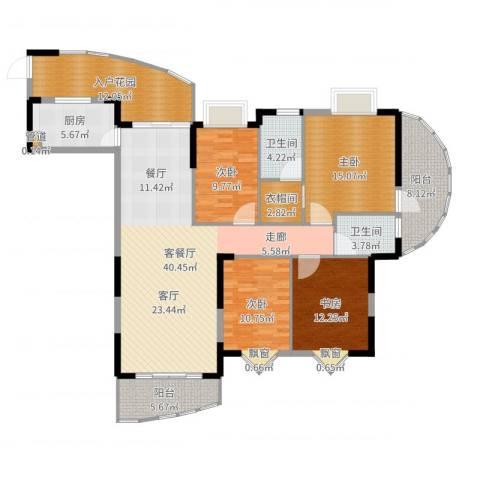 御景豪庭4室2厅2卫1厨163.00㎡户型图