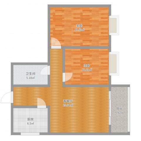 博源大厦10012室2厅1卫1厨95.00㎡户型图