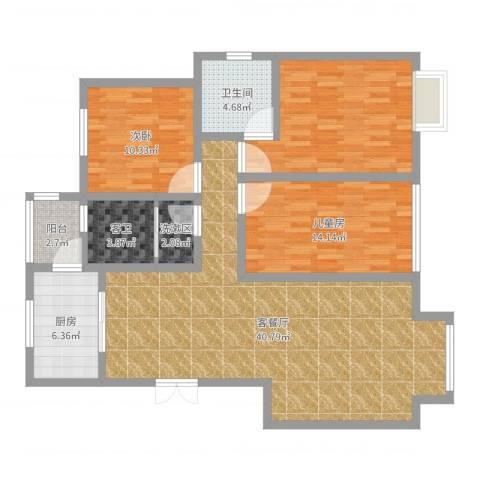 阳光家天下2室2厅4卫1厨125.00㎡户型图