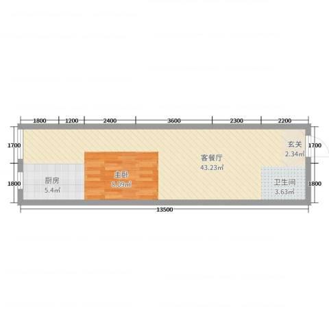 太原文兴苑2厅0卫0厨43.23㎡户型图
