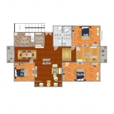 丽华甲第苑3室2厅2卫1厨275.00㎡户型图
