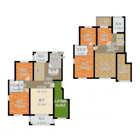 建业森林半岛5室3厅2卫1厨223.00㎡户型图