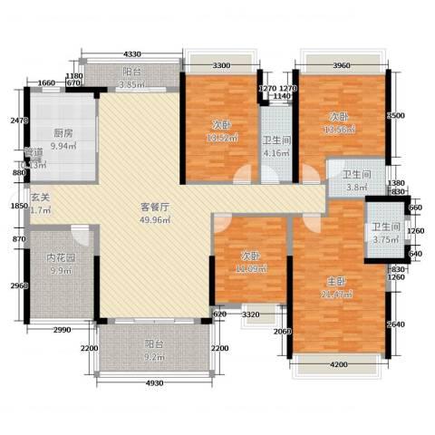 佳兆业御龙山4室2厅3卫1厨192.00㎡户型图