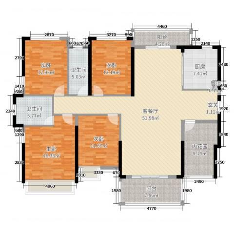 佳兆业御龙山4室2厅2卫1厨178.00㎡户型图