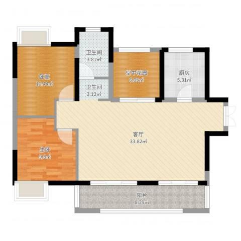 光谷新世界1室1厅1卫1厨97.00㎡户型图