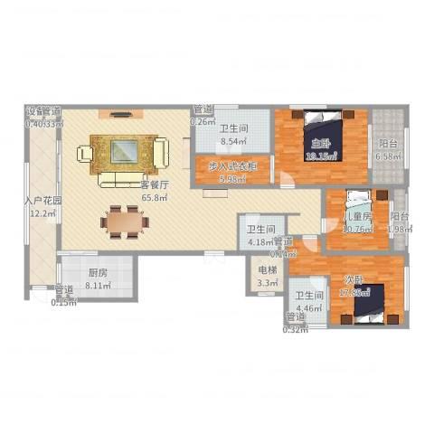 新地中心3室2厅3卫1厨213.00㎡户型图