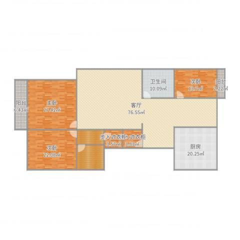 丽华苑3室1厅1卫1厨247.00㎡户型图