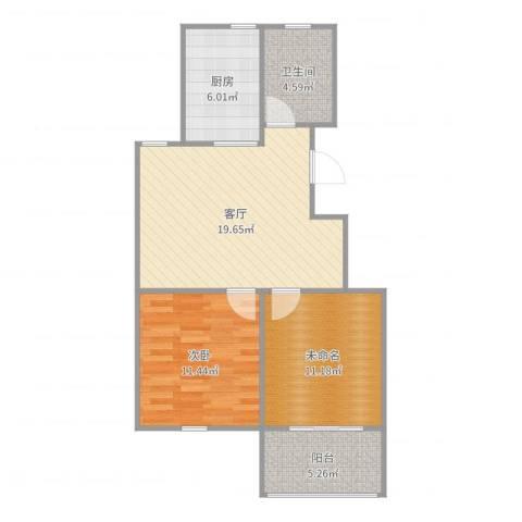 天沁家园1室1厅1卫1厨73.00㎡户型图