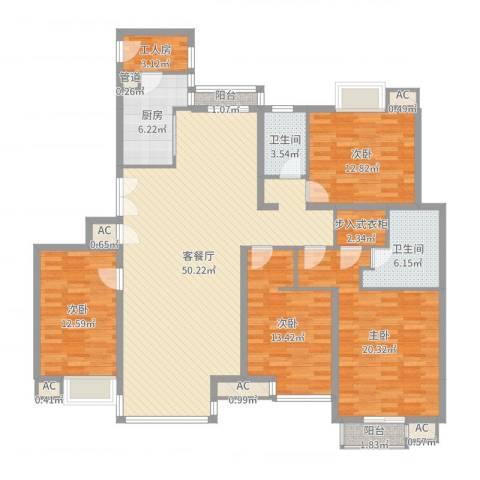 东润枫景4室2厅2卫1厨171.00㎡户型图