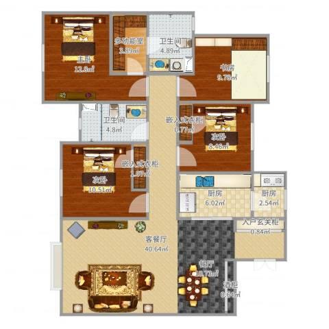 合畅园三室两厅-Hs314室2厅2卫2厨135.00㎡户型图