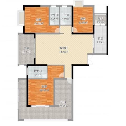 中建江山壹号3室2厅3卫1厨200.00㎡户型图