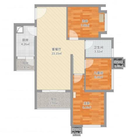 海棠阁3栋三房二厅09(乙)户型
