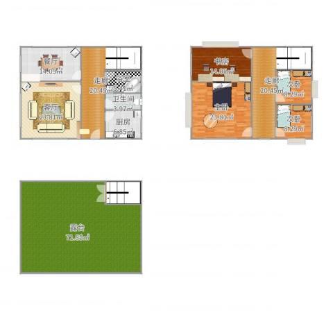 将军楼4室2厅1卫1厨283.00㎡户型图