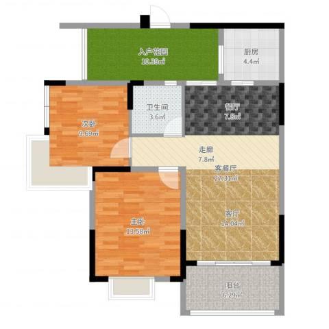 世纪金源御府2室2厅1卫1厨94.00㎡户型图