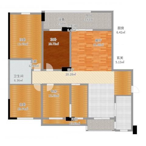 南郡明珠4室2厅2卫1厨200.00㎡户型图