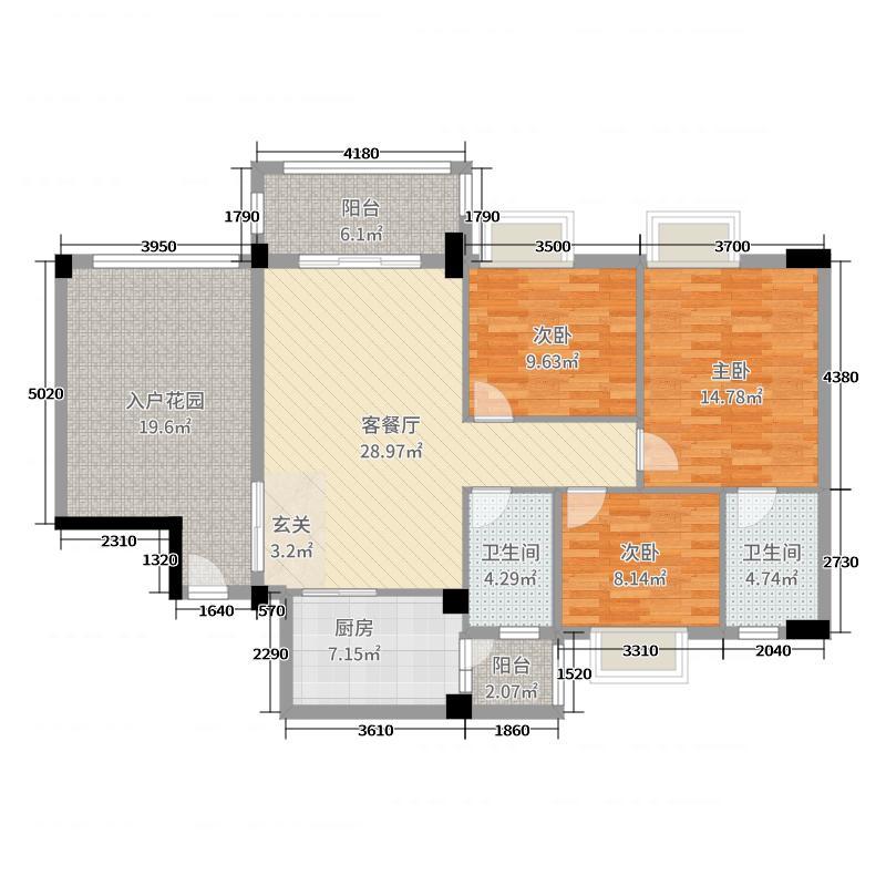 学府花园【时光小筑】120.42㎡12栋01、02户型3室3厅2卫1厨