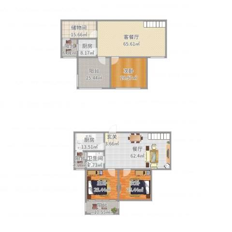 家天下・水景天成3室3厅1卫2厨375.00㎡户型图