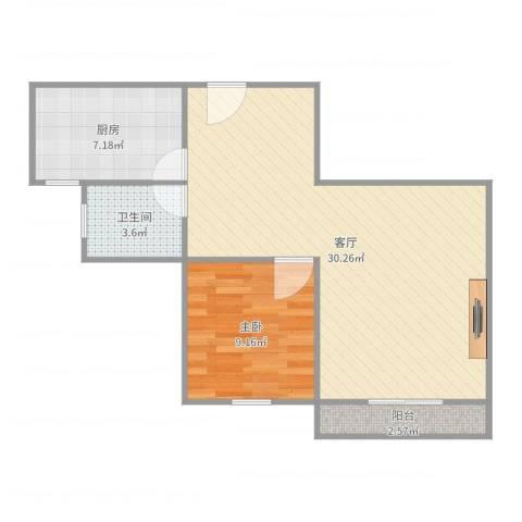 浦江东旭公寓1房1室1厅1卫1厨66.00㎡户型图