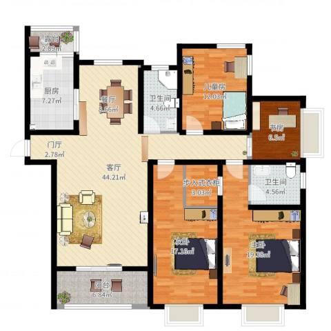 融侨城4室1厅2卫1厨160.00㎡户型图