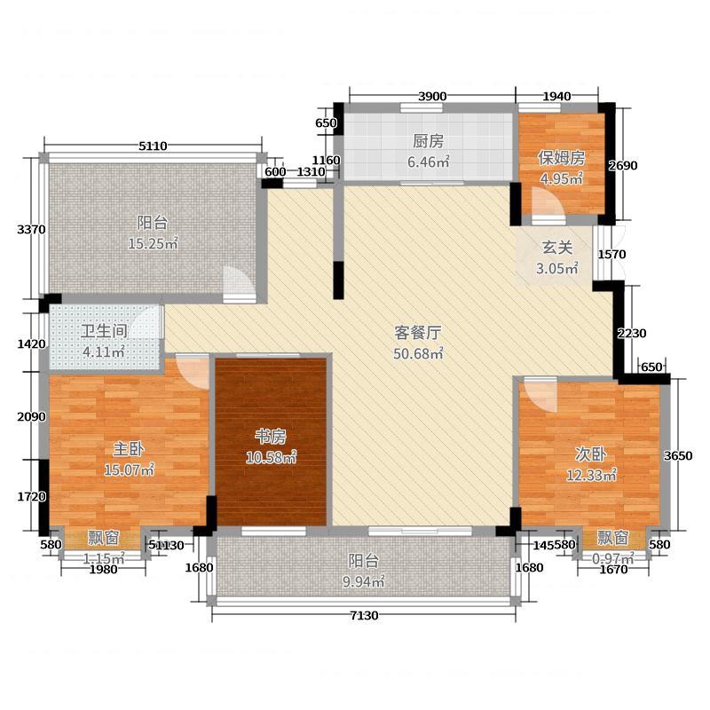 绿地国际理想城183.02㎡洋房B5面积18302户型5室5厅2卫1厨