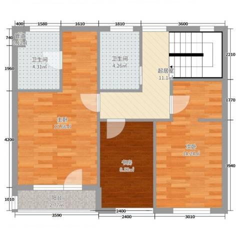 锦园3室0厅2卫0厨178.00㎡户型图