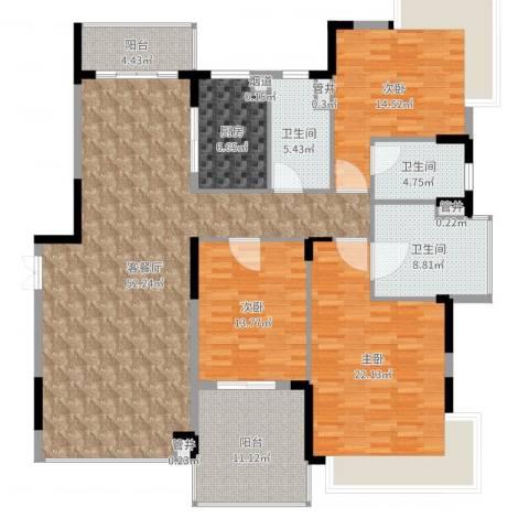 恒大海上威尼斯3室2厅3卫1厨181.00㎡户型图