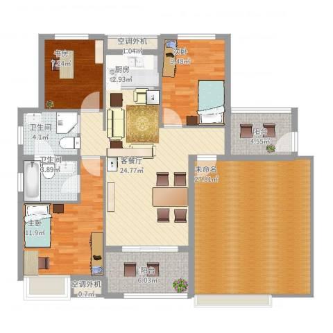 苏州庄园3室2厅4卫1厨147.00㎡户型图