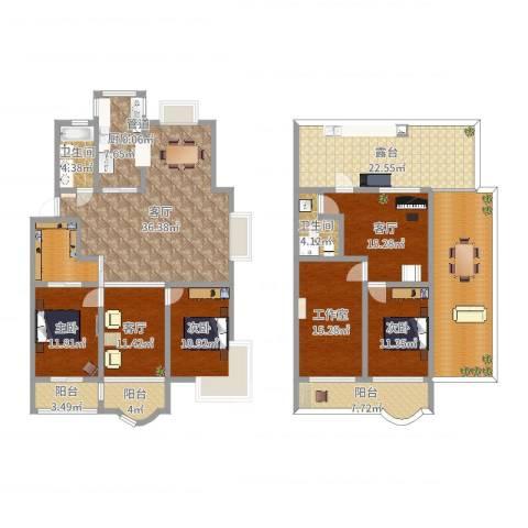 太湖花园三期3室3厅2卫1厨244.00㎡户型图