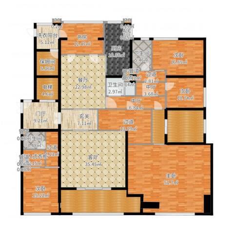 九龙仓雅戈尔铂翠湾5室2厅9卫1厨361.00㎡户型图