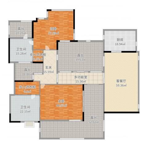 容谷别墅2室2厅2卫1厨444.00㎡户型图
