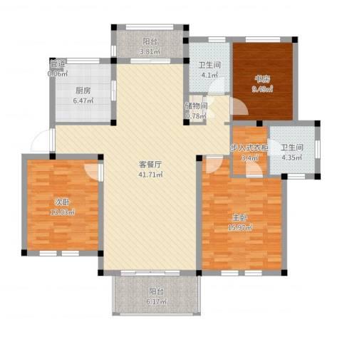 中通・凤凰城3室2厅2卫1厨137.00㎡户型图