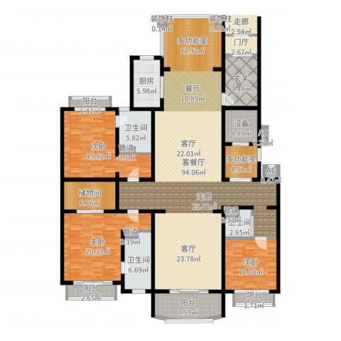 荣禾曲池东岸3室2厅3卫1厨262.00㎡户型图