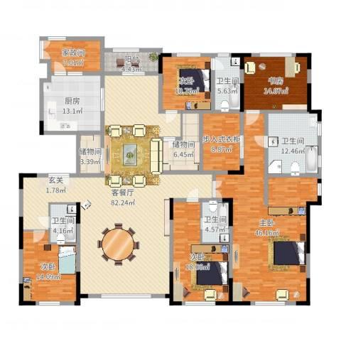 中海紫金苑5室2厅4卫1厨319.00㎡户型图
