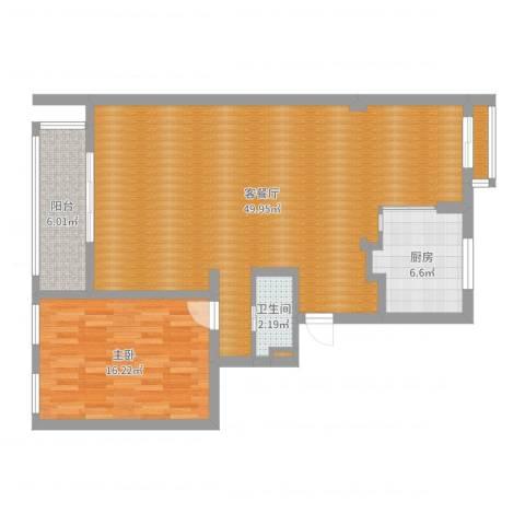 lzhty1室2厅1卫1厨102.00㎡户型图