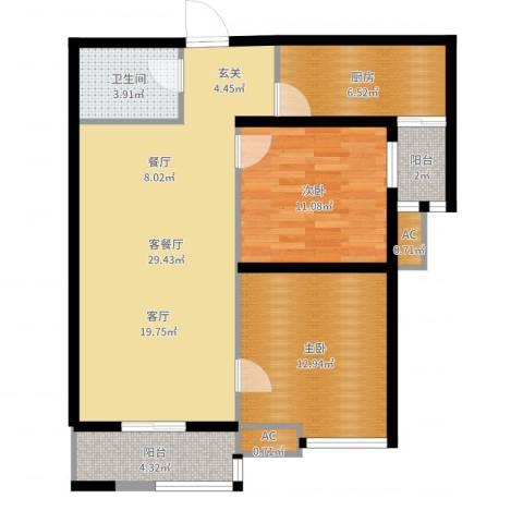 嘉禾广运2室2厅1卫1厨90.00㎡户型图