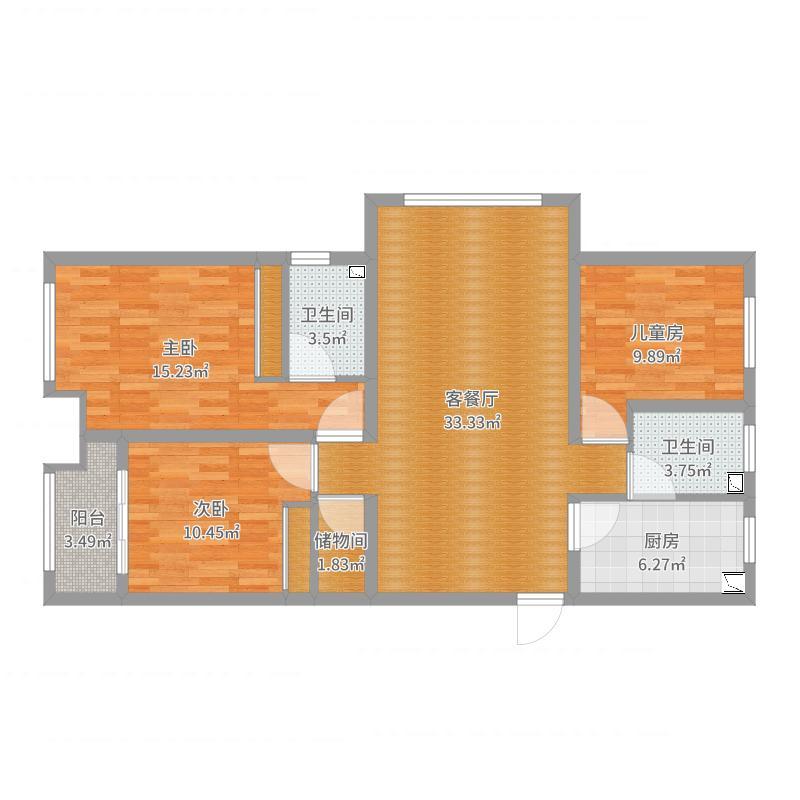 加州锦城132三室两厅