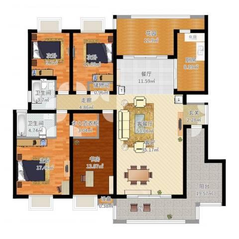 曲江诸子阶4室2厅2卫1厨199.00㎡户型图