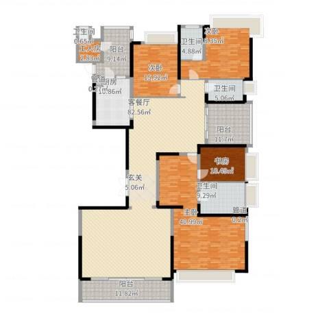 恒大绿洲4室2厅4卫1厨329.00㎡户型图