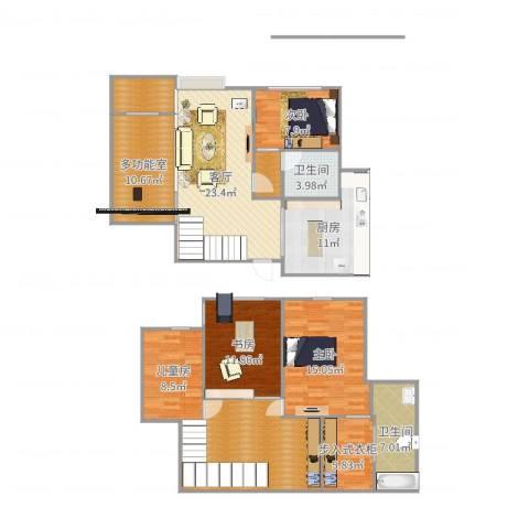 朗晴轩4室1厅2卫1厨161.00㎡户型图