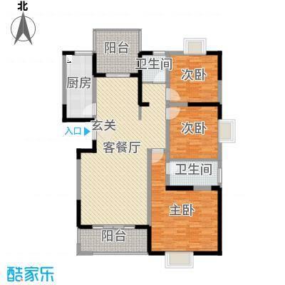 万泰・滨湖新城148.26㎡万泰滨湖新城54、55#楼S3户型3室3厅2卫1厨