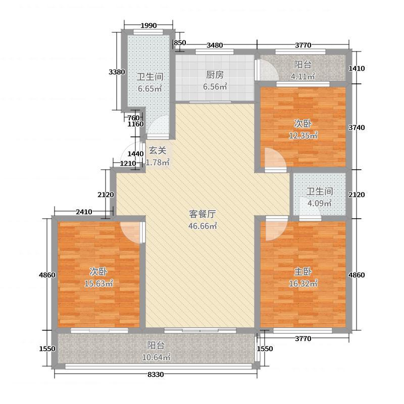 美林御苑153.90㎡1412067140092_000户型3室3厅2卫1厨